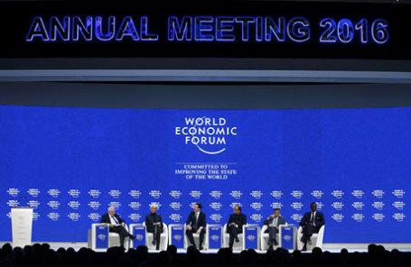 Во время Всемирного экономического форума в Давосе.