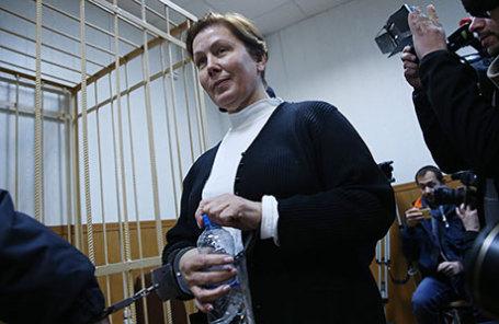 Директор Библиотеки украинской литературы Наталья Шарина, обвиняемая в распространении экстремистских материалов.