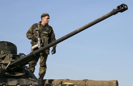 Украинский военный.