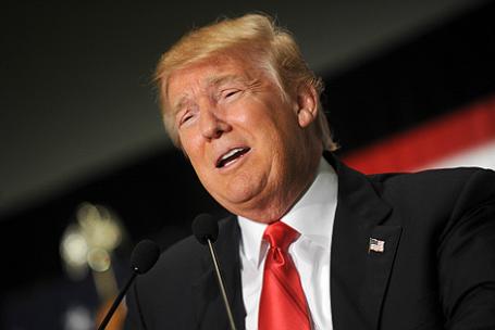 Кандидат в президенты США Дональд Трамп на кокусах Республиканской партии в Айове.