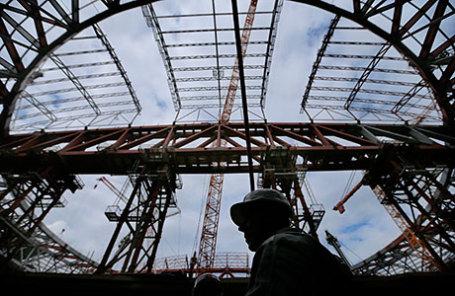 Строительство стадиона «Зенит Арена» на Крестовском острове.