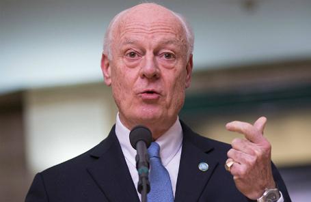 Спецпосланник ООН по Сирии С. де Мистура.