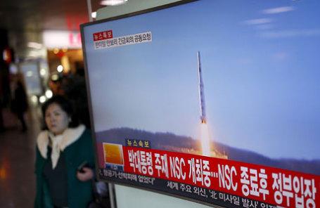 Северная Корея запустила ракету большой дальности с испытательного полигона Сохэ на северо-западе страны.