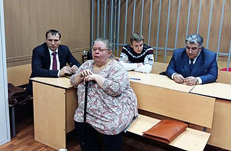 Бывшие сотрудники Банка Москвы Алла Аверина (на переднем плане) и Константин Сальников (во втором ряду в центре).