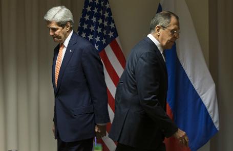 Встреча министра иностранных дел РФ С.Лаврова и госсекретаря США Д.Керри в Цюрихе.