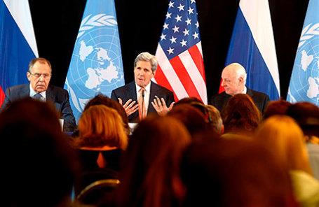 Пресс-конференция по итогам встречи Международной группы поддержки Сирии прошла в Мюнхене.