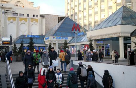 Торговый объект, подлежащий демонтажу, у станции метро «Тверская».