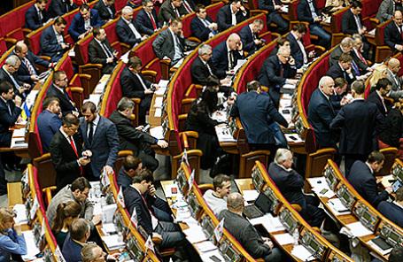 Заседание Верховной Рады Украины в Киеве.