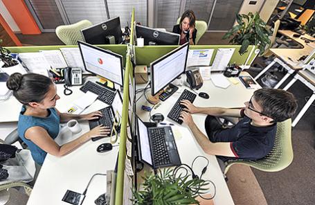 В офисе компании «Яндекс».