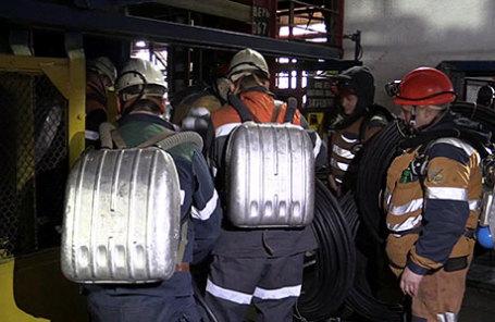 Горноспасатели в шахте «Северная».
