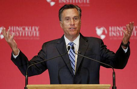 Бывший кандидат в президенты США от Республиканской партии Митт Ромни в Университете Юты.