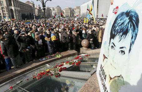 Митинг с требованием освободить украинскую летчицу Надежду Савченко в центре Киева.