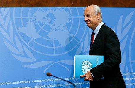 Специальный посланник ООН по Сирии Стаффан де Мистура.