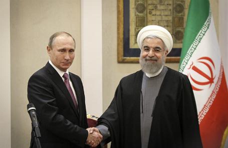 Лидеры РФ и Ирана — Владимир Путин и Хасан Роухани.