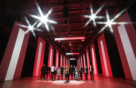 На церемонии вручения премии газеты The Art Newspaper Russia в выставочном зале «Манеж».