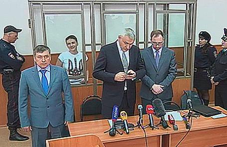 Оглашение приговора украинской военнослужащей Надежде Савченко в Донецком областном суде, Донецк, 21 марта 2016.