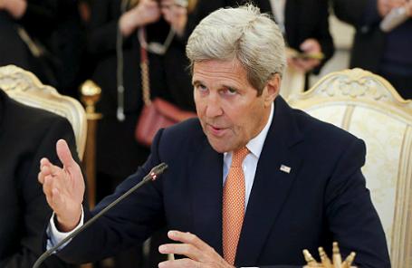Джон Керри на переговорах в Москве.