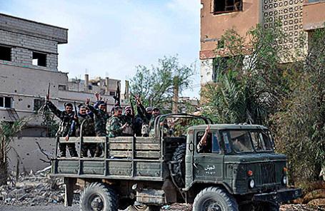 Правительственные войска Сирии в Пальмире, 27 марта 2016.