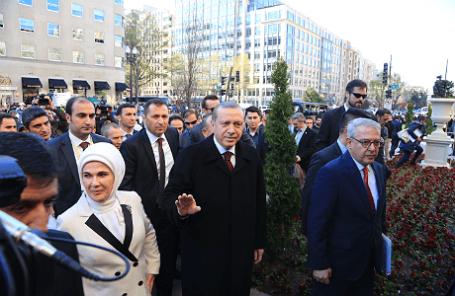 Президент Турции Реджеп Тайип Эрдоган прибыл с визитом в США