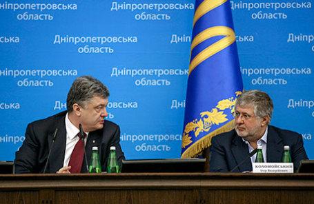 Президент Украины Петр Порошенко(слева) и предприниматель Игорь Коломойский.