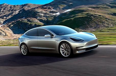 Презентация электромобиля Tesla Model 3.