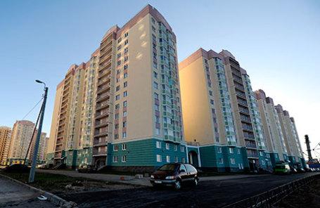 Новые жилые дома, построенные в Приморском районе Санкт-Петербурга.
