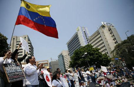 Митинг в Венесуэле.