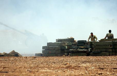 Форпост сирийской армии.