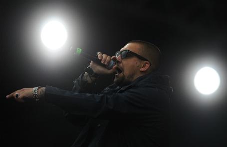 Хип-хоп исполнитель Баста на фестивале уличной культуры Moscow International Rap Festival (M.I.R. Festival) на аэродроме Тушино.