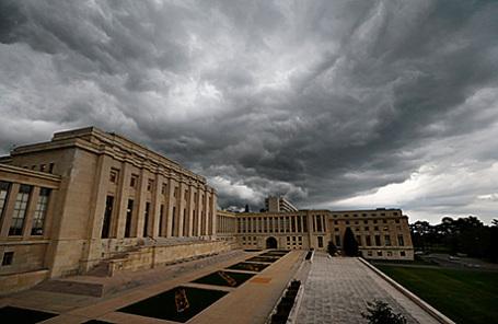 Штаб-квартира ООН в Женеве, где проходят переговоры по Сирии.