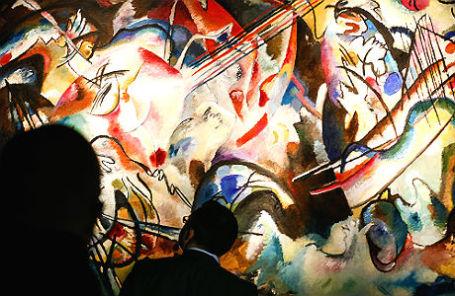 На выставке работ Кандинского «Контрапункт: «Композиция VI» и «Композиция VII».