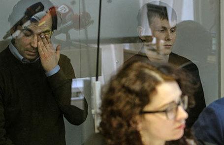 Заседание суда по делу Александра Александрова и Евгения Ерофеева в Киеве.