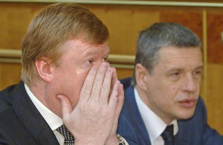 Глава «Роснано» Анатолий Чубайс и Юрий Удальцов (слева направо)