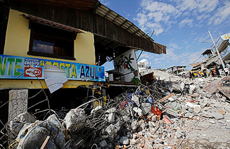 Последствия землетрясения. Педерналес, Эквадор.