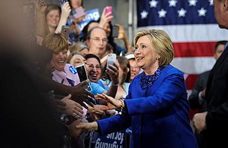 Кандидат в президенты США Хиллари Клинтон.