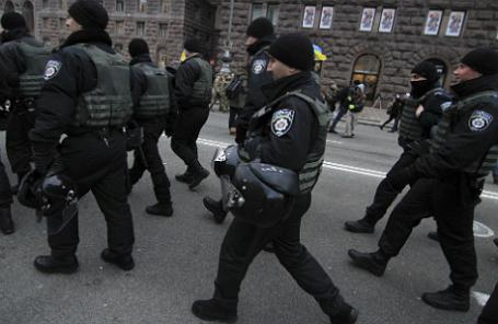 Патруль полиции Украины.