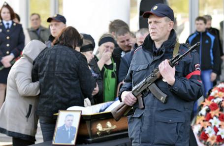 Прощание с замначальника штаба ГУ МВД РФ по Самарской области Андреем Гоштом.