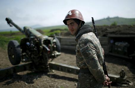 Солдат Армении в Нагорном Карабахе.
