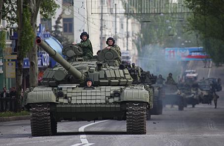 Парад Победы в Донецке.