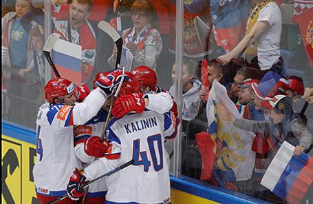 Чемпионат мира по хоккею - 2016: Казахстан - Россия - 4:6.