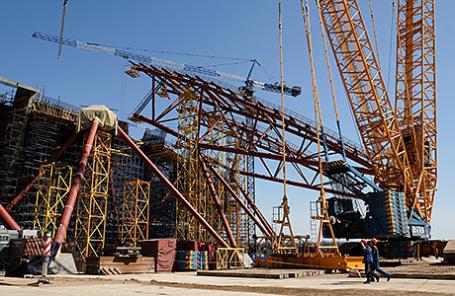 Строительство стадиона «Самара-Арена».