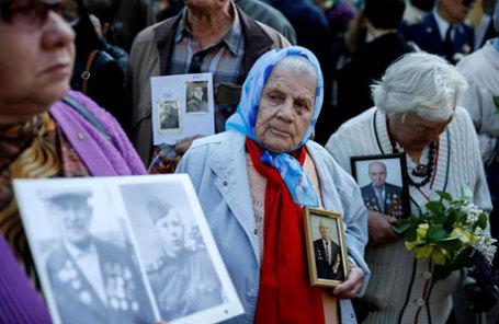 Празднования Дня Победы в центре Киева.