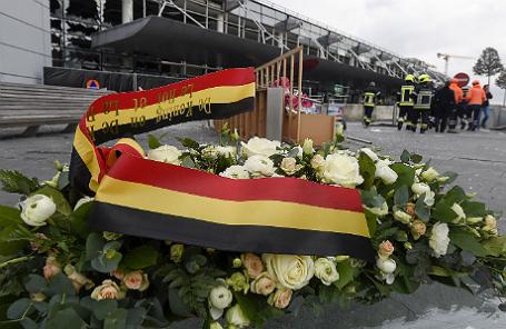 Ситуация в международном аэропорту Брюсселя «Завентем» после серии терактов.