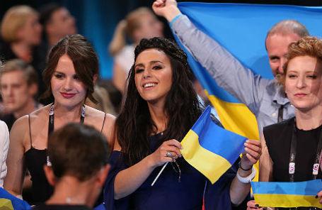 Певица Джамала на втором полуфинале «Евровидения-2016».