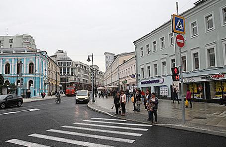 Мясницкая улица в Москве.