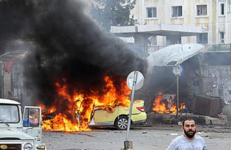 Взрыв в Тартусе, Сирия, 23 мая 2016.