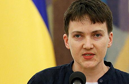 Надежда Савченко в Киеве, 25 мая 2016.
