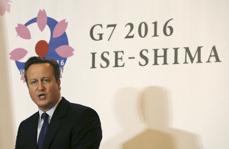 Дэвид Кэмерон на саммите лидеров стран G7 в японском национальном парке Исэ-Симе.