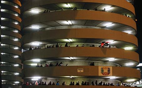 Стадион «Джузеппе Меацца» в Милане, где 28 мая 2016 года пройдет финал Лиги Чемпионов УЕФА.