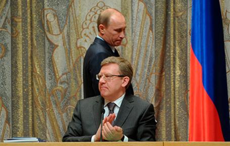 Председатель Центра стратегических разработок Алексей Кудрин и президент России Владимир Путин.